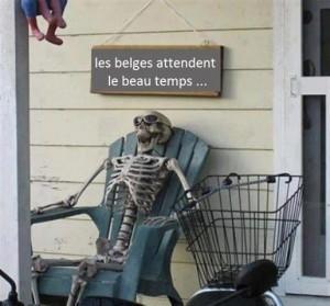 Les Belges attendent le beau temps