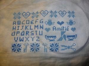 Sampler Amitié bleu