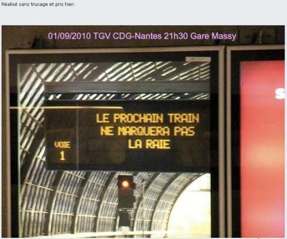 A la SNCF