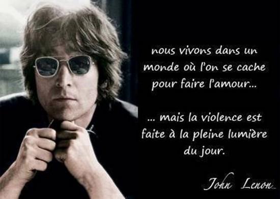 La violence J. Lenon