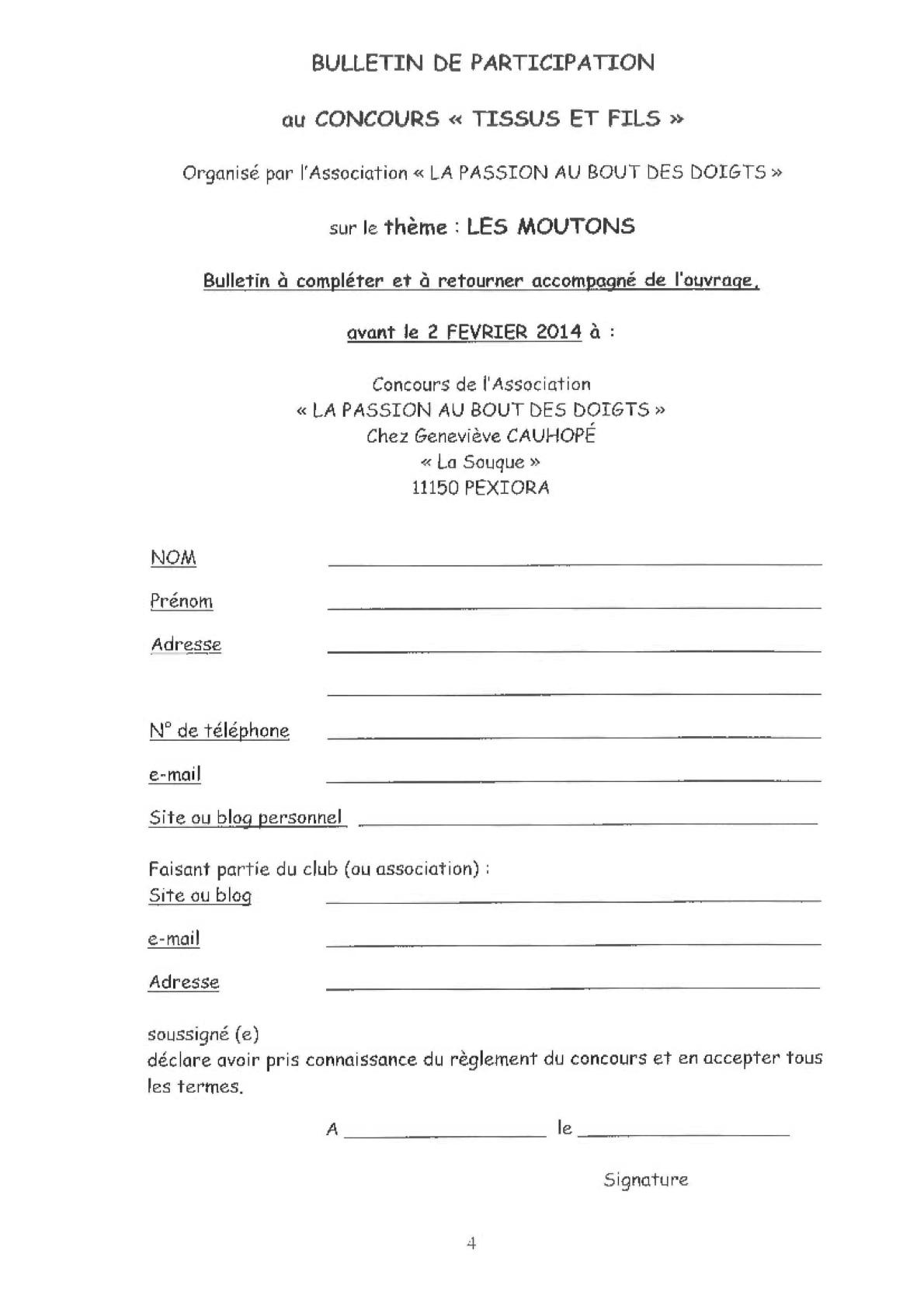 Règlement concours 2014-'
