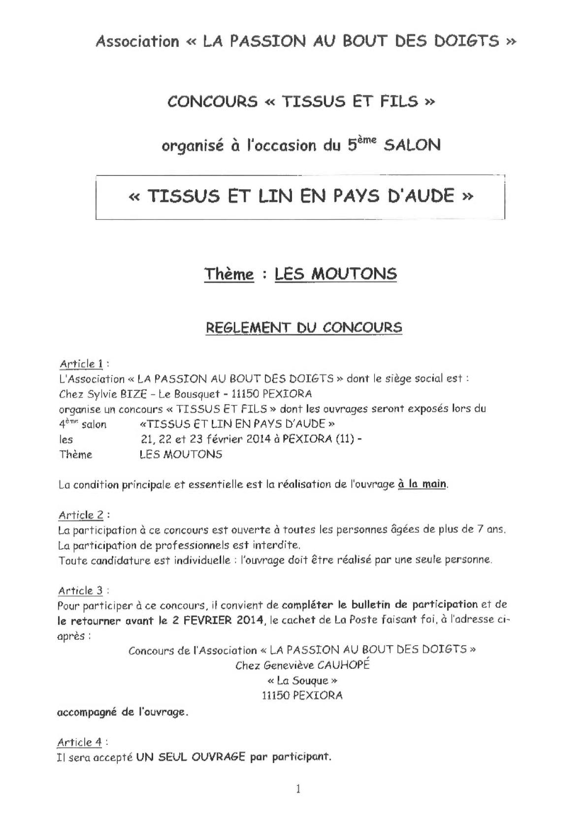 Règlement concours 2014 1