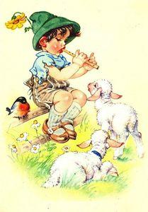 Enfant aux moutons gif