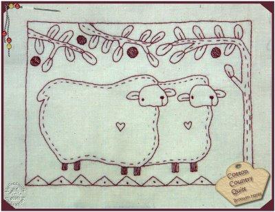Moutons brodés