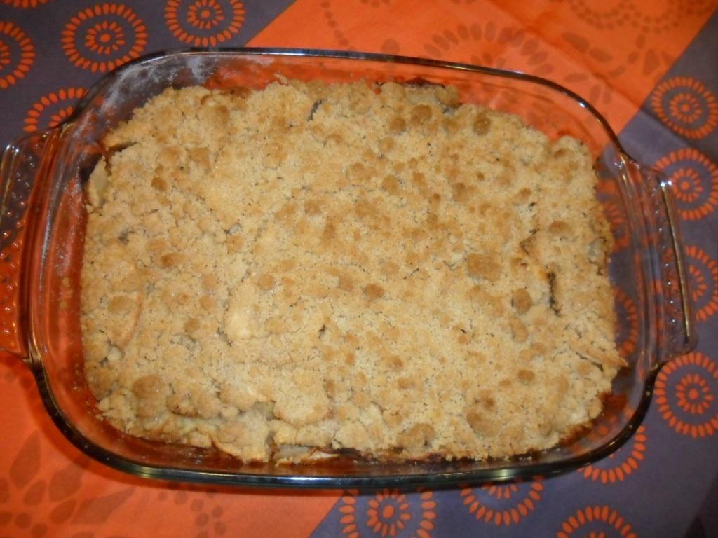 Gâteau aux pommes façon crumble