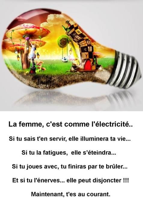 La femme et l'électricité