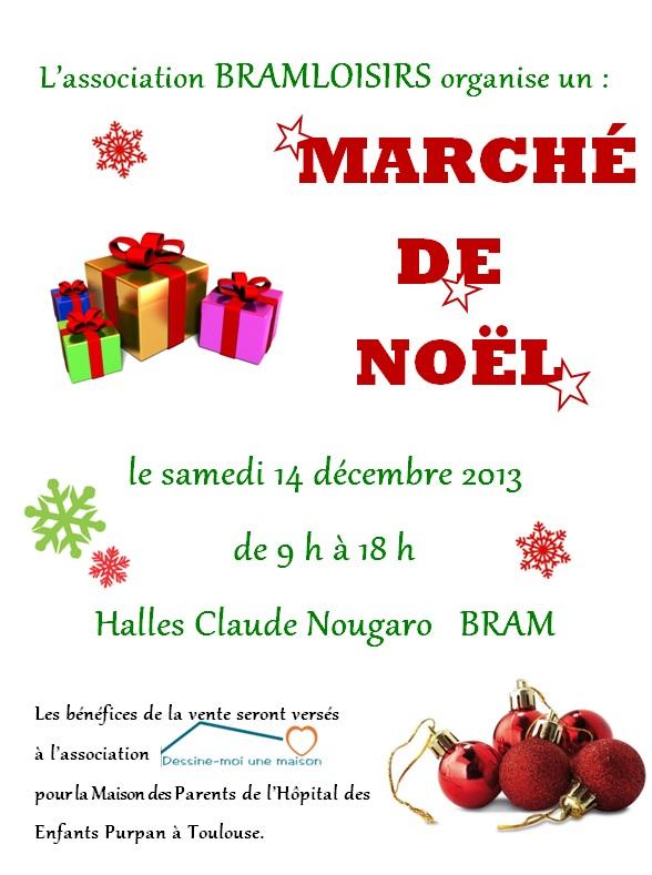 affiche marché de noël Bram