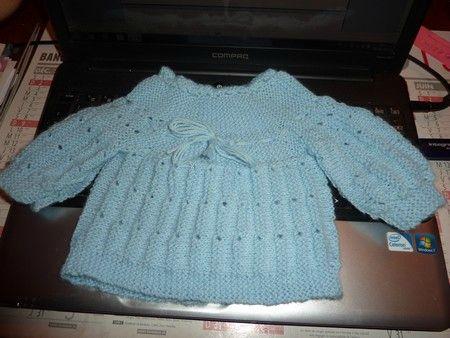 modele tricot en une seule piece
