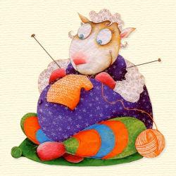 Mouton qui tricote