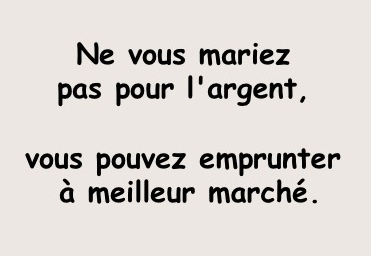 Humour mariage