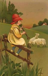 Petit berger et mouton gif