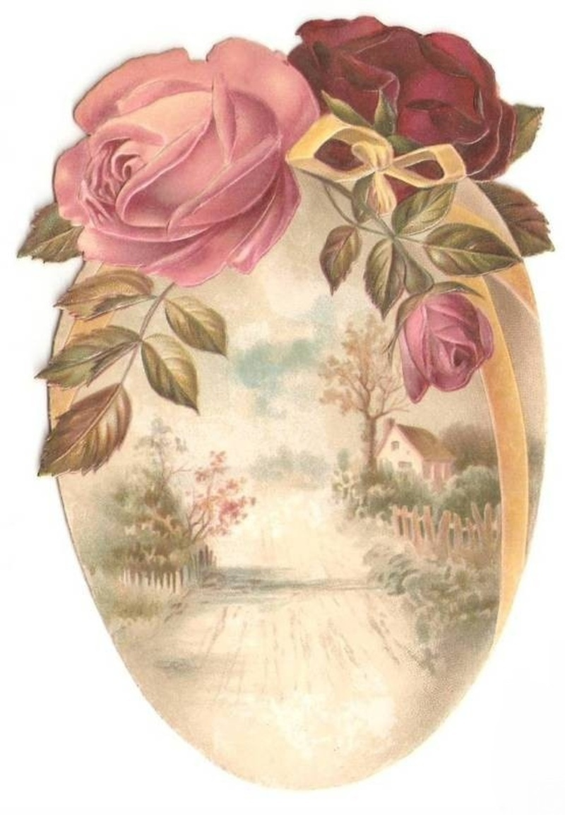 Joyeuses Pâques œuf à la rose