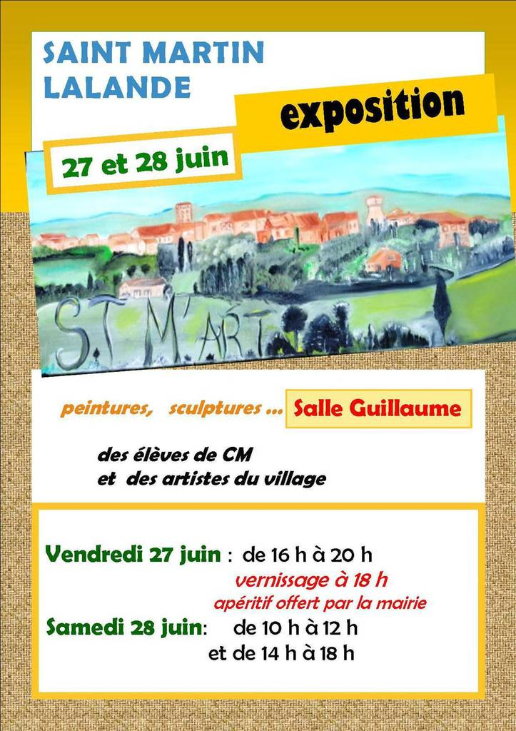 Affiche St Martin expo