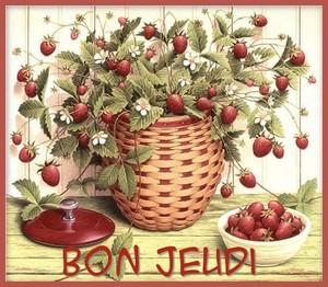 Bon jeudi fraises