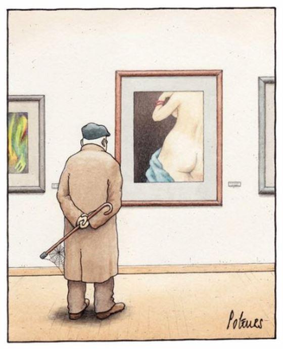 Papi devant le nu