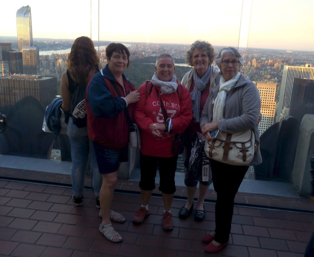 USA, en haut du Top of the rock