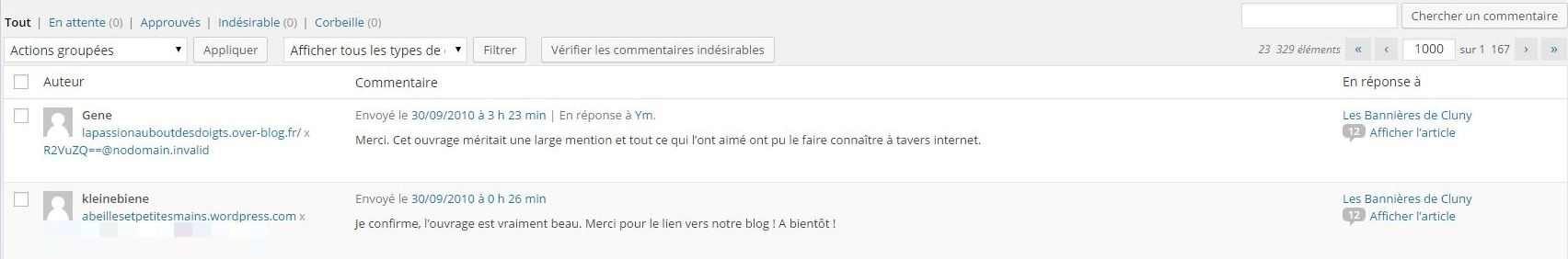 Commentaire 1000