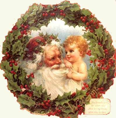 Père Noël  à l'enfant