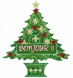 Sapin Noël bonjour gif