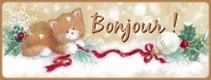 Bonjour chat Noël gif