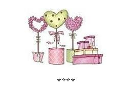 Cadeaux en rose gif