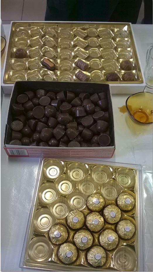 Les chocolats des rois.