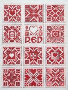Motifs sampler Rouge