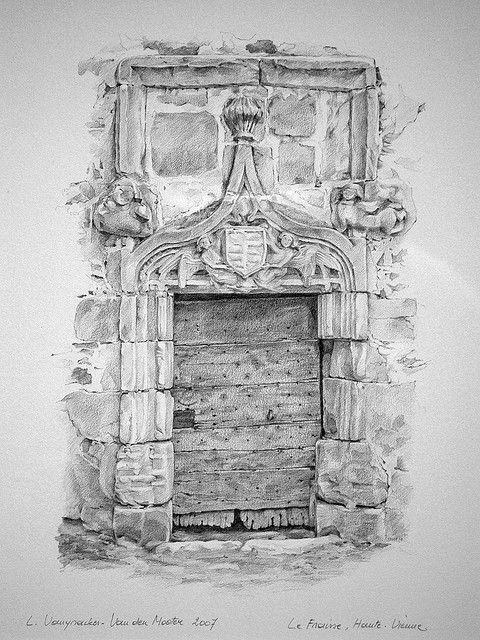 Dessin vieille porte