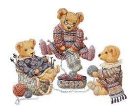 Oursons tricoteurs gif