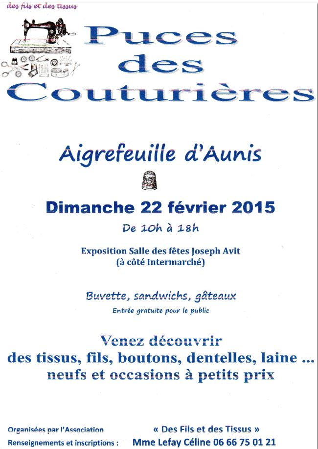 Puces couturieres Aunis