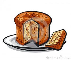 panettone-de-gâteau-de-raisins-secs-au-plat gif