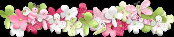 Frises fleurs ton rose gif