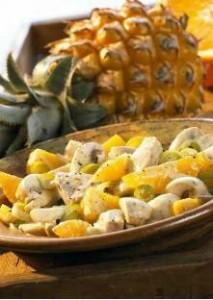 Salade poulet ananas