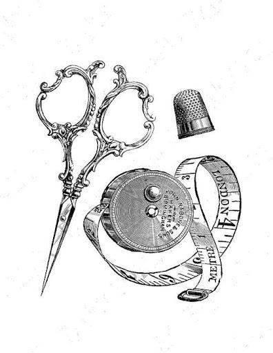Ciseaux mètre ruban gif