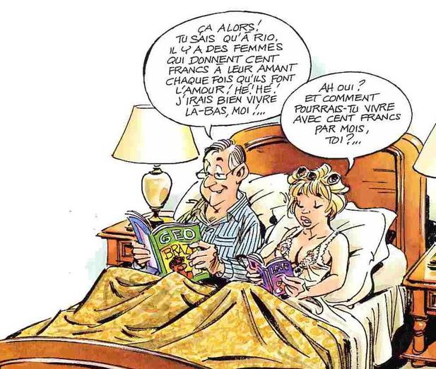 Humour coupe au lit