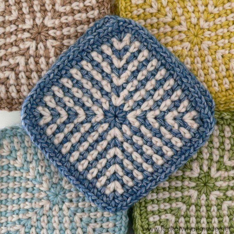 Carrés tricotés