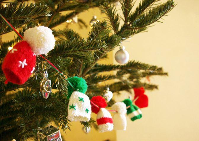 Guirlande de Noël tricotée