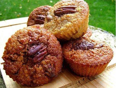 Muffins banane noix de pécan