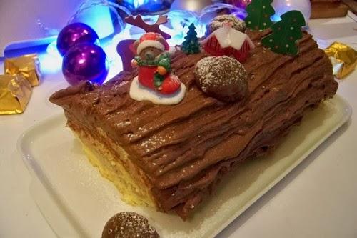 Bûche marron chocolat