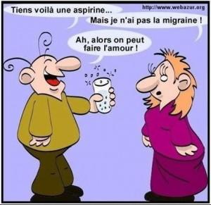 Humour dessin la migraine