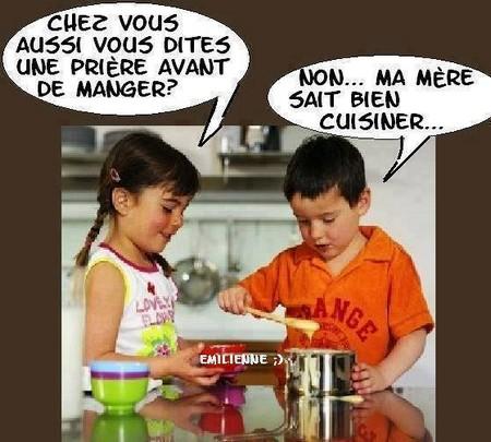 Humour enfants en cuisine