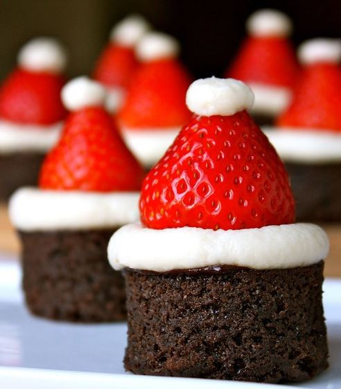 Présentation dessert Noël