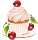 Cup cake cerise gif