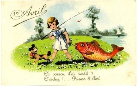 1 avril fillette à la pêche gif