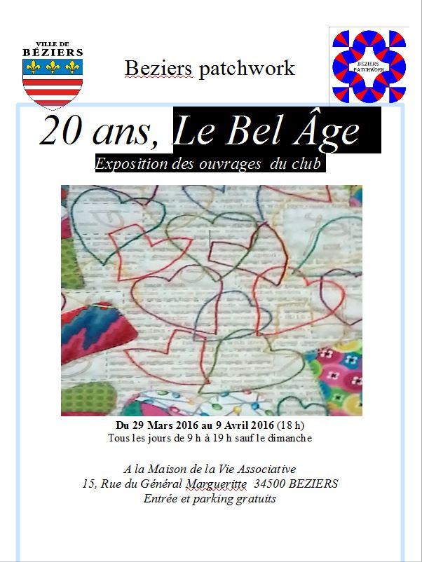Affiche Béziers parch 34