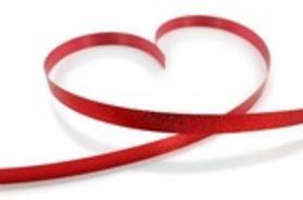 Coeur ruban rouge gif