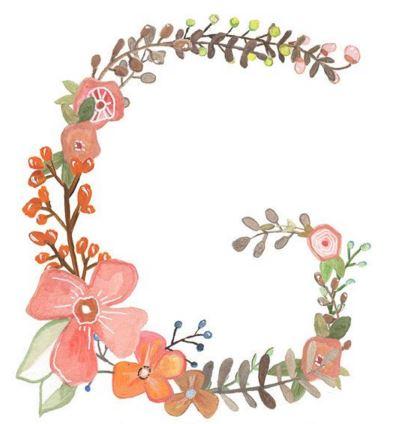 G fleuri dessin  gif
