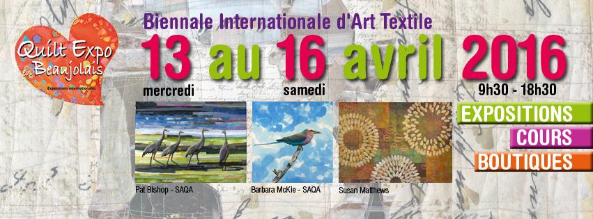 Affiche Quilt expo Beaujolais