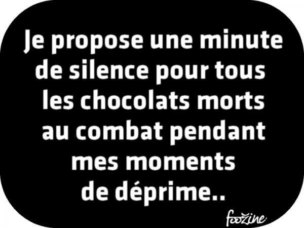 Humour Chocolat mort au combat ...