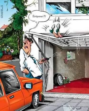 Humour Porte de garage